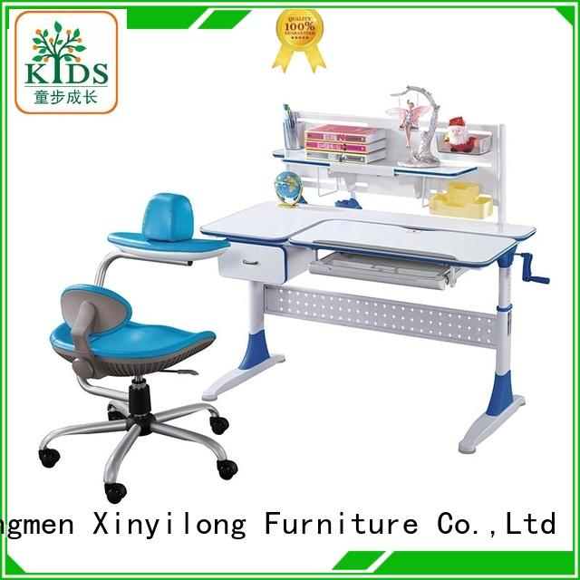 Xinyilong Furniture Brand ergonomic at wooden activity study table and chair