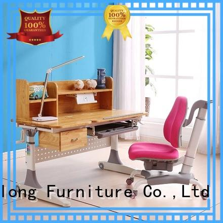 Modern Design Children Furniture Adjustable Wooden Study Table and Chair Set for Kids