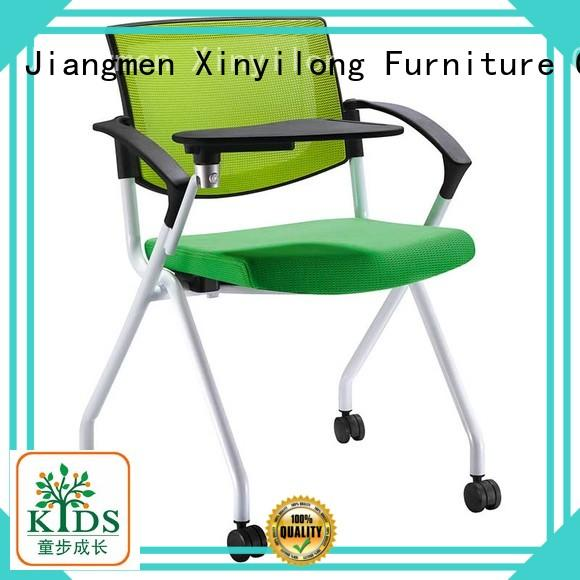Xinyilong Furniture practical stackable chair with wheel for lecture