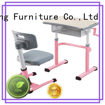 steel room height childrens school desk and chair set Xinyilong Furniture manufacture