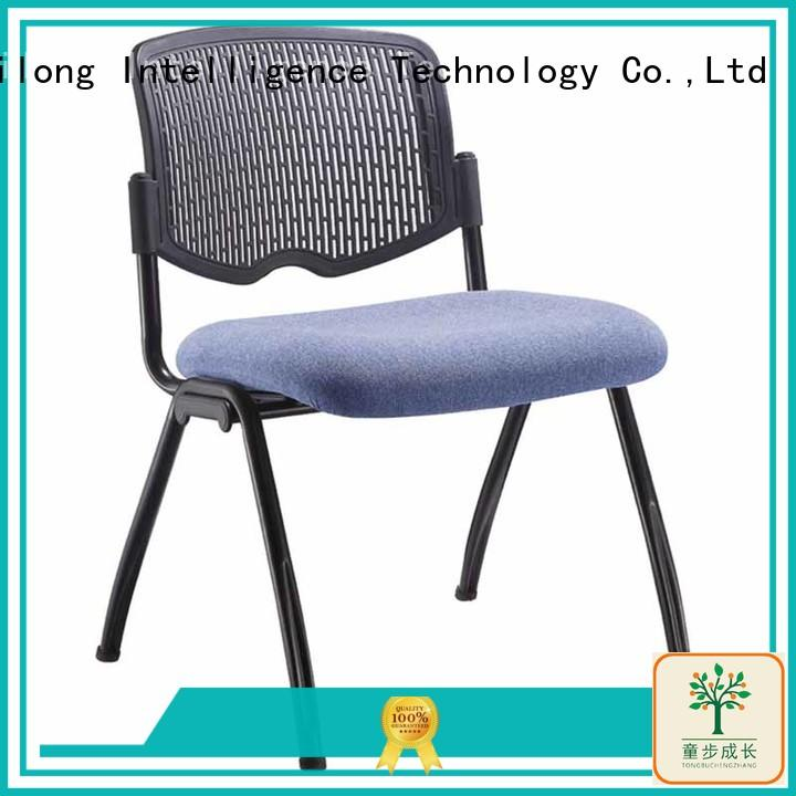 foldable kids plastic chairs with wheel for classroom