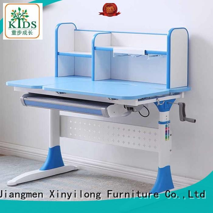 Xinyilong Furniture storage student desk adjustable height for sale for children